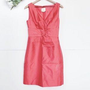 Kate Spade Mina Coral Silk Blend Sheath Dress